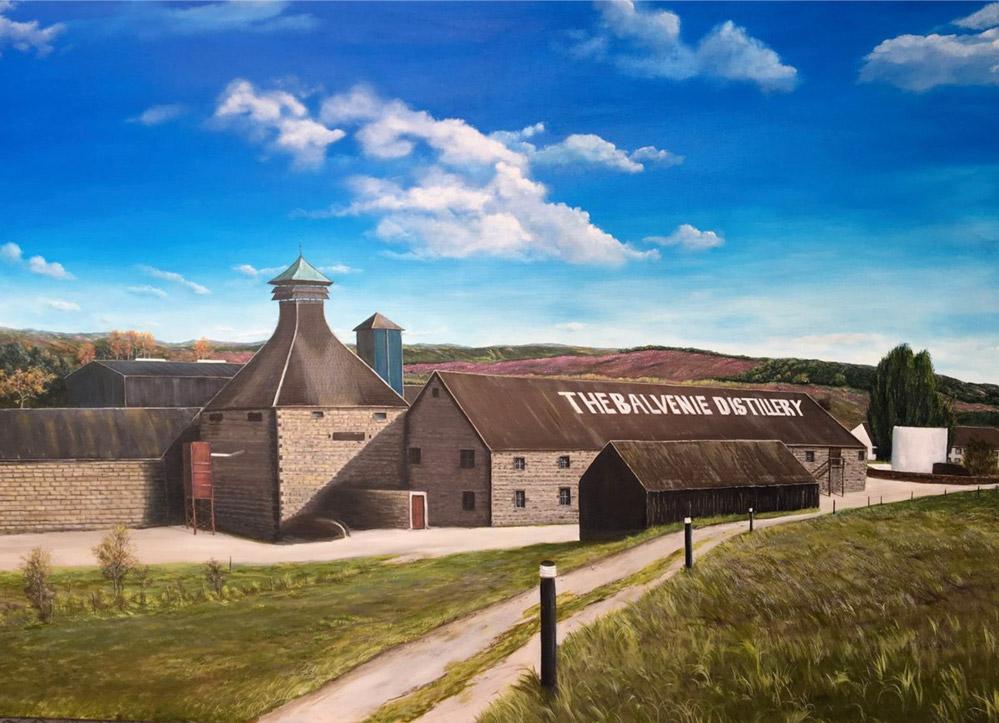 Balvenie Distillery Dufftown / Scotland, 100 x 140 cm, Oil on canvas, 2018