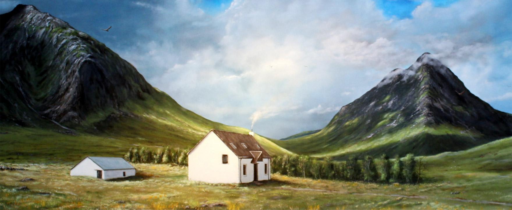 Glen Coe Highlands / Scotland, 50 x 150 cm, Oil on canvas, 2016