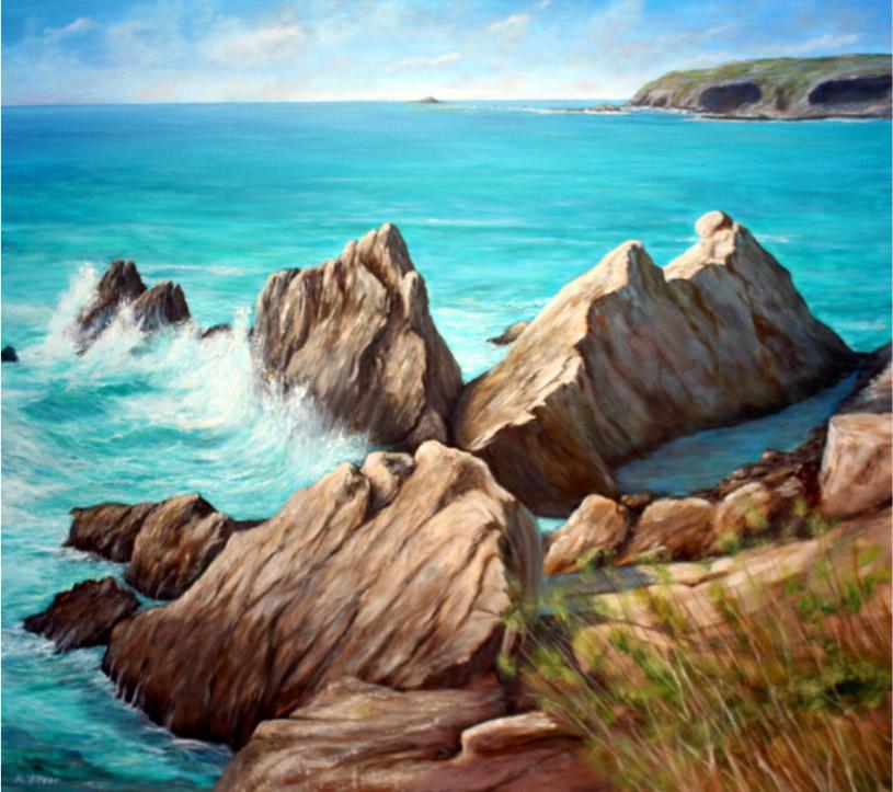 Wild Atlantic Way, Ireland, 80 x 90 cm, Oil on canvas